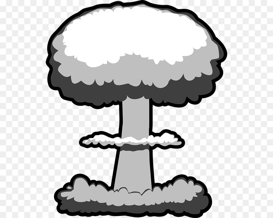 Bomb clipart cloud. Nuclear explosion weapon mushroom