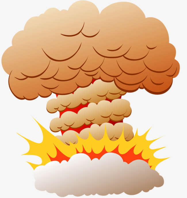 Mushroom after the explosion. Bomb clipart cloud