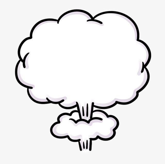 Explosion png cartoon . Bomb clipart cloud