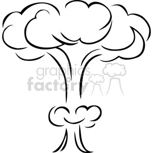 Royalty free black and. Bomb clipart cloud