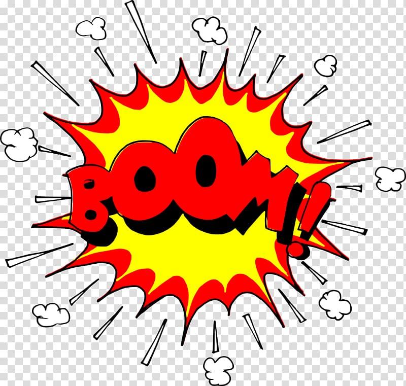 Boom explosion pop art. Bomb clipart comic book