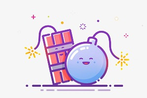 Cartoon gift png image. Bomb clipart cute