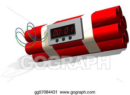 Bomb clipart dynamite. Stock illustration time illustrations
