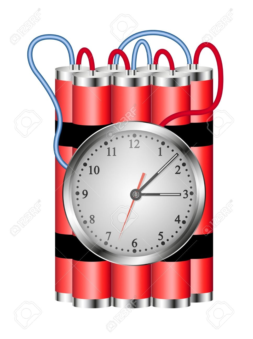 Time connected to clock. Bomb clipart dynamite