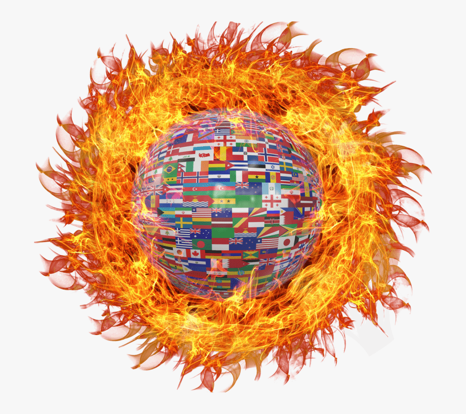 Fire portable network graphics. Explosion clipart fiery