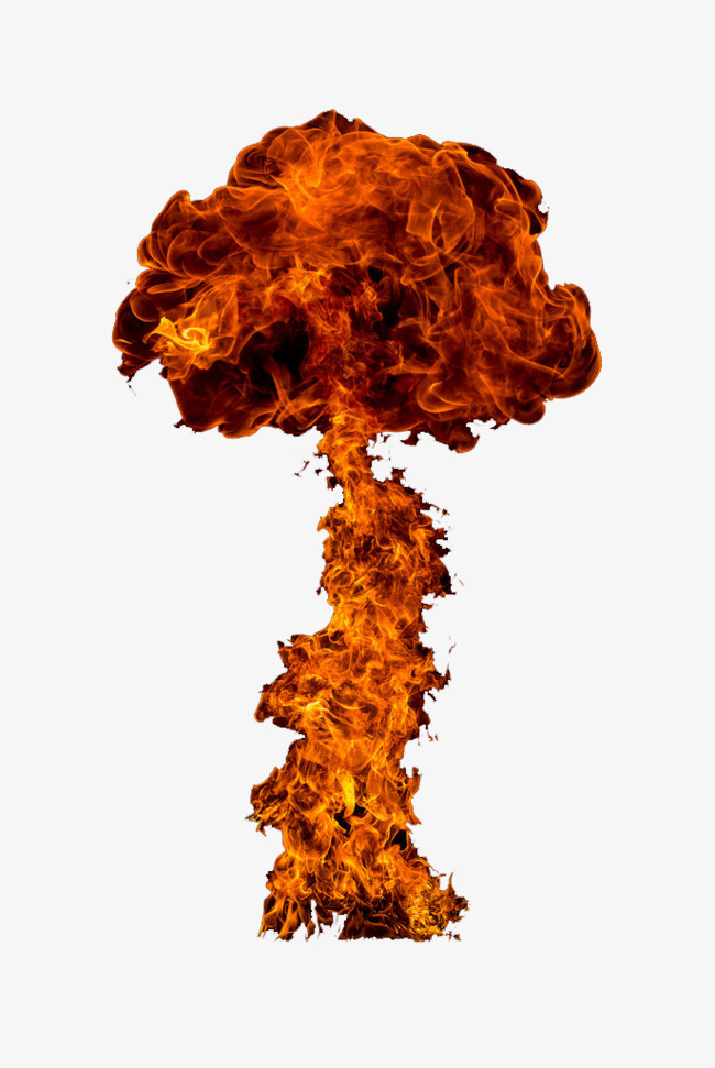Nuclear explosion smoke bombs. Bomb clipart fire