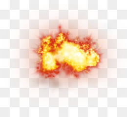 Explosion png and psd. Bomb clipart fire