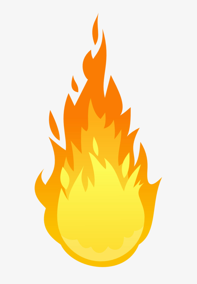 Cartoon flame png image. Bomb clipart fire