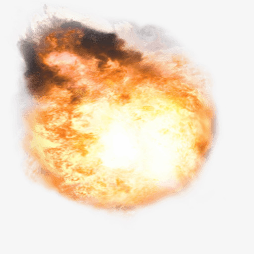Bomb clipart fire. Explosion flame halo explosive