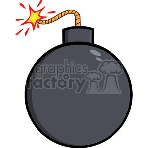 Bomb clipart fuse. Royalty free rf illustration