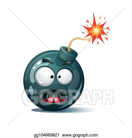 Bomb clipart fuse. Vector stock cartoon wick