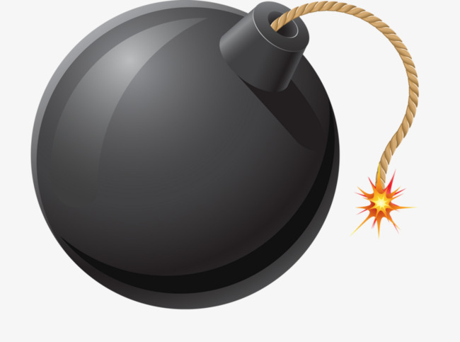 Bomb clipart fuse. Black png image and