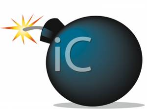Bomb clipart fuse. The lit on a