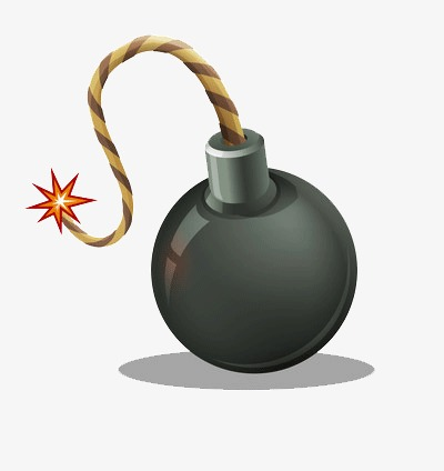Round danger power png. Bomb clipart fuse
