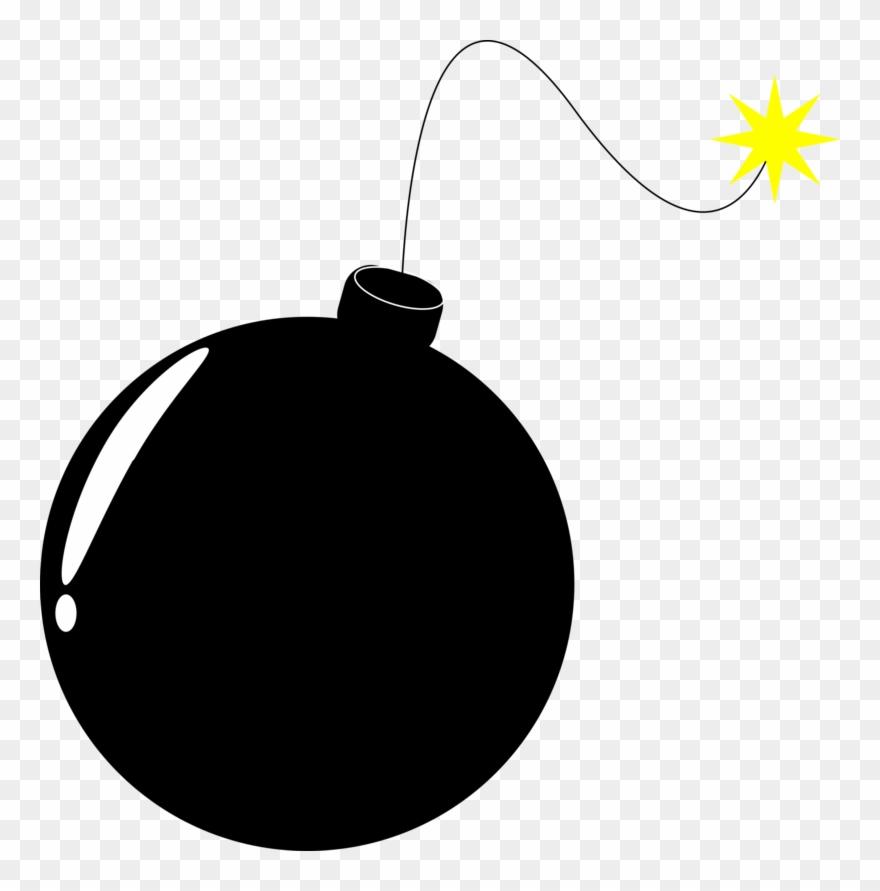 Explosive detonation fuze explosion. Bomb clipart fuse