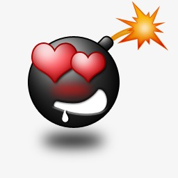 Love your blasted explosion. Bomb clipart heart