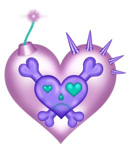 best hj rtan. Bomb clipart heart