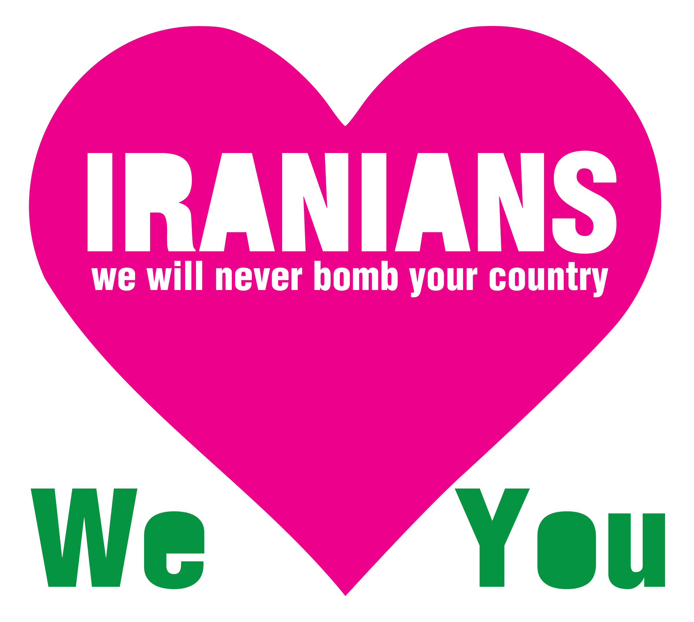 Bomb clipart heart. Iranians we will never