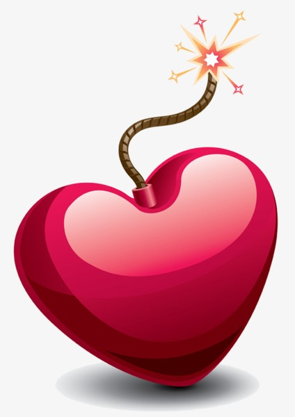Love shaped png image. Bomb clipart heart