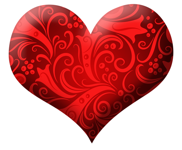 Bomb clipart heart. Red with ornaments png