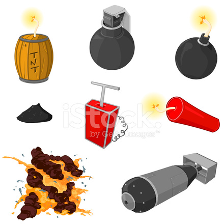 Bomb clipart hydrogen bomb. And explosion icon set