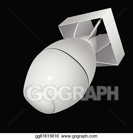 Vector stock h illustration. Bomb clipart hydrogen bomb