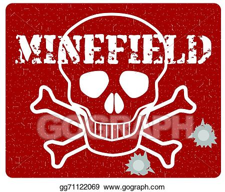 Bomb clipart minefield. Vector art eps gg