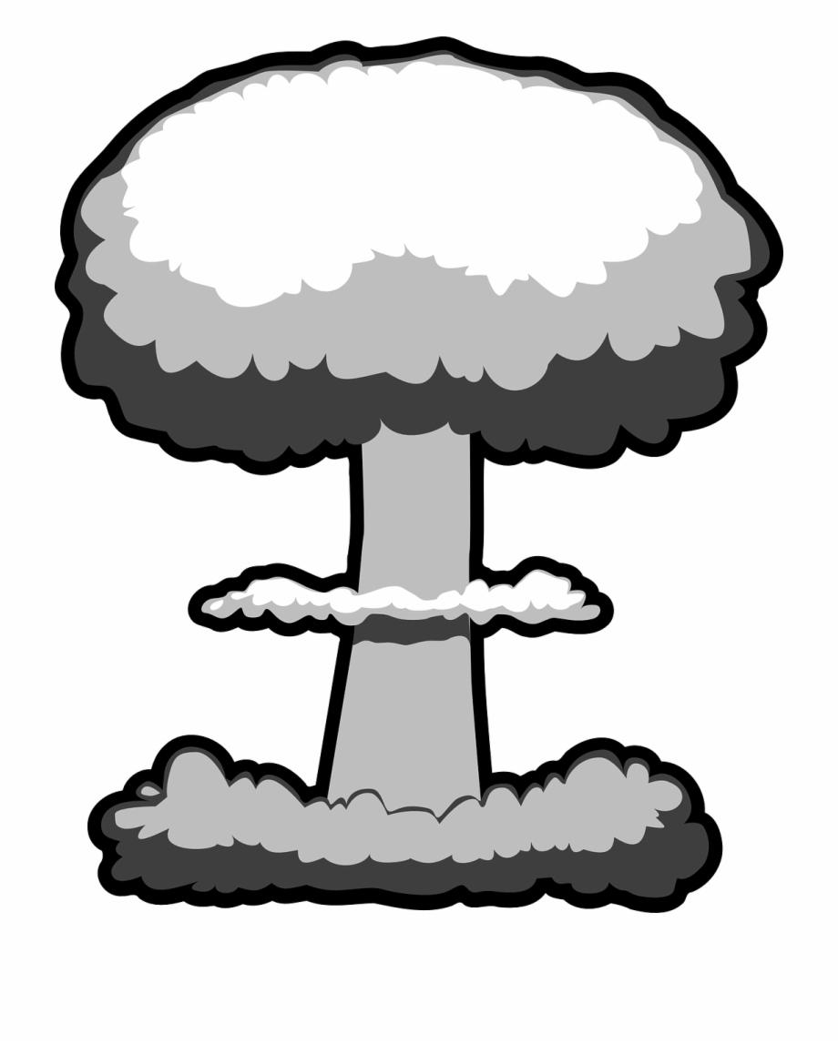 Mushroom cloud nuclear clip. Explosion clipart nuke explosion