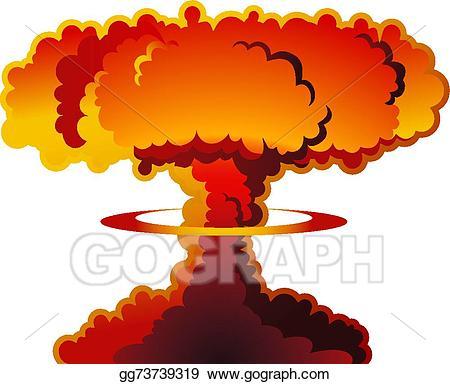 Eps vector nuclear mushroom. Explosion clipart nuke explosion