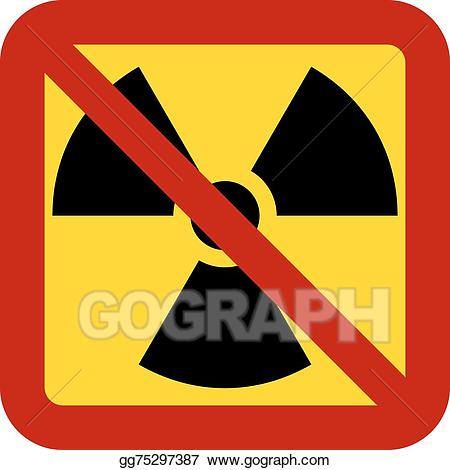 Vector illustration no weapons. Bomb clipart nuclear missile