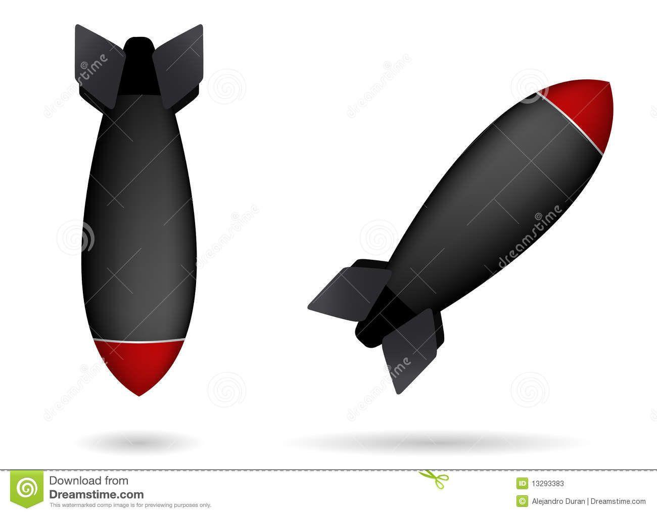 Bomb clipart nuclear warhead. Missiles tattoo pinterest rock