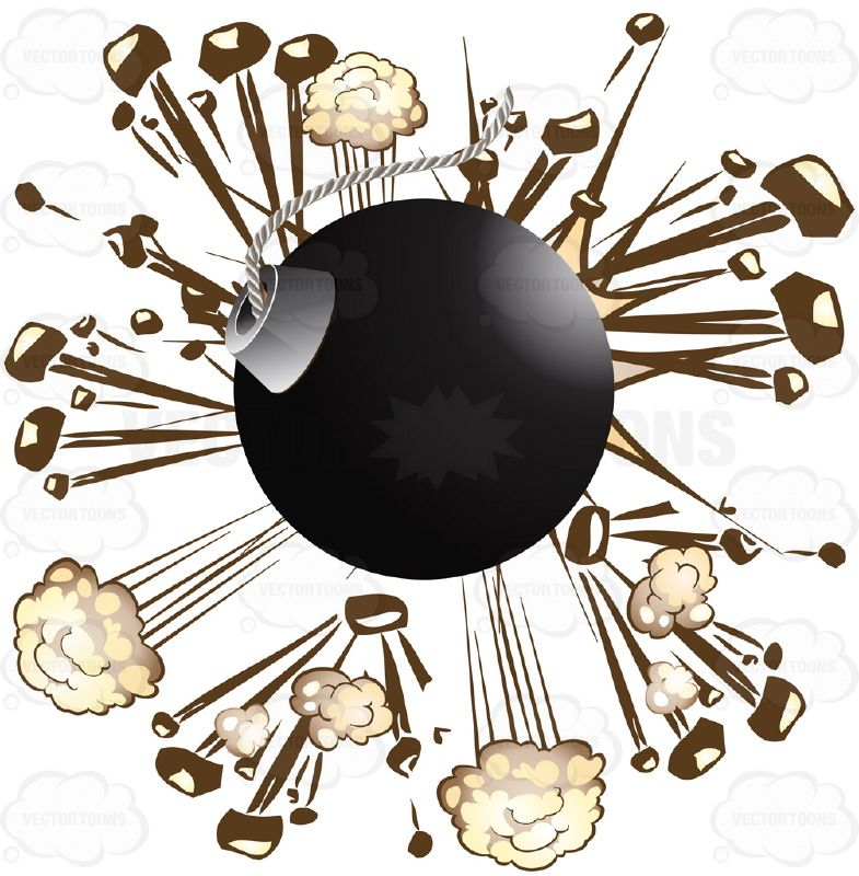 Round black cannon ball. Bomb clipart old fashioned