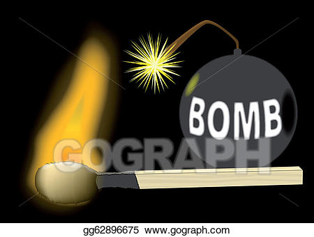 Bomb clipart old fashioned. Vector art drawing gg