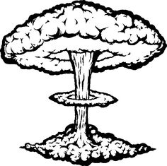Image result for atom. Bomb clipart old school