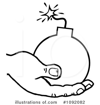 Bomb clipart outline. Illustration by hit toon