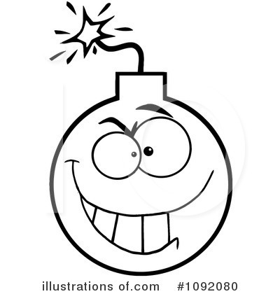 Illustration by hit toon. Bomb clipart outline