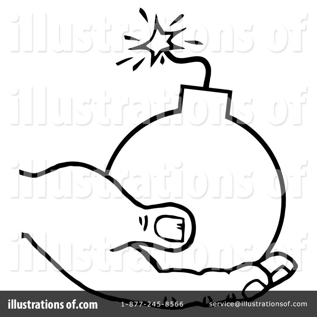 Illustration by hit toon. Bomb clipart retro