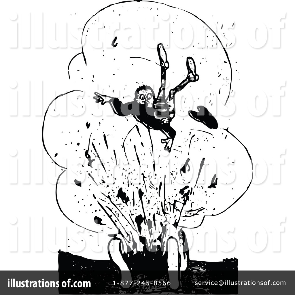 Explosion illustration by prawny. Bomb clipart retro
