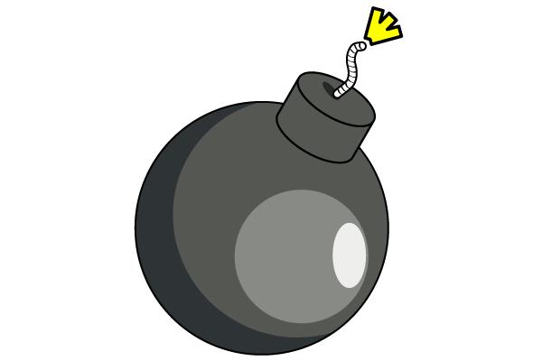 Bomb clipart retro. Free psd files vectors