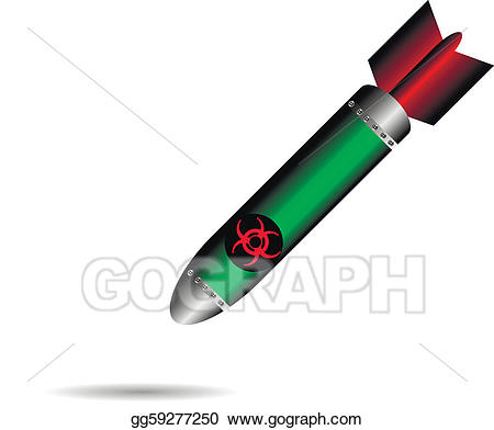 Bomb clipart rocket. Vector art cartoon on