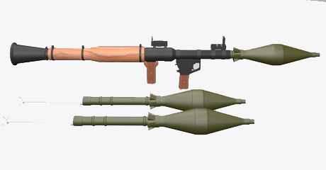 Floating artillery shell arms. Bomb clipart rocket
