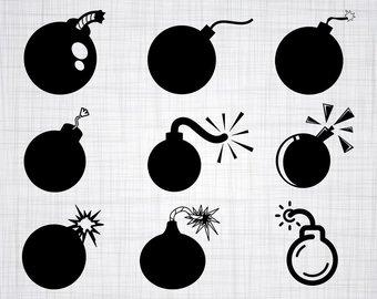 Bomb clipart silhouette. Etsy svg bundle cut