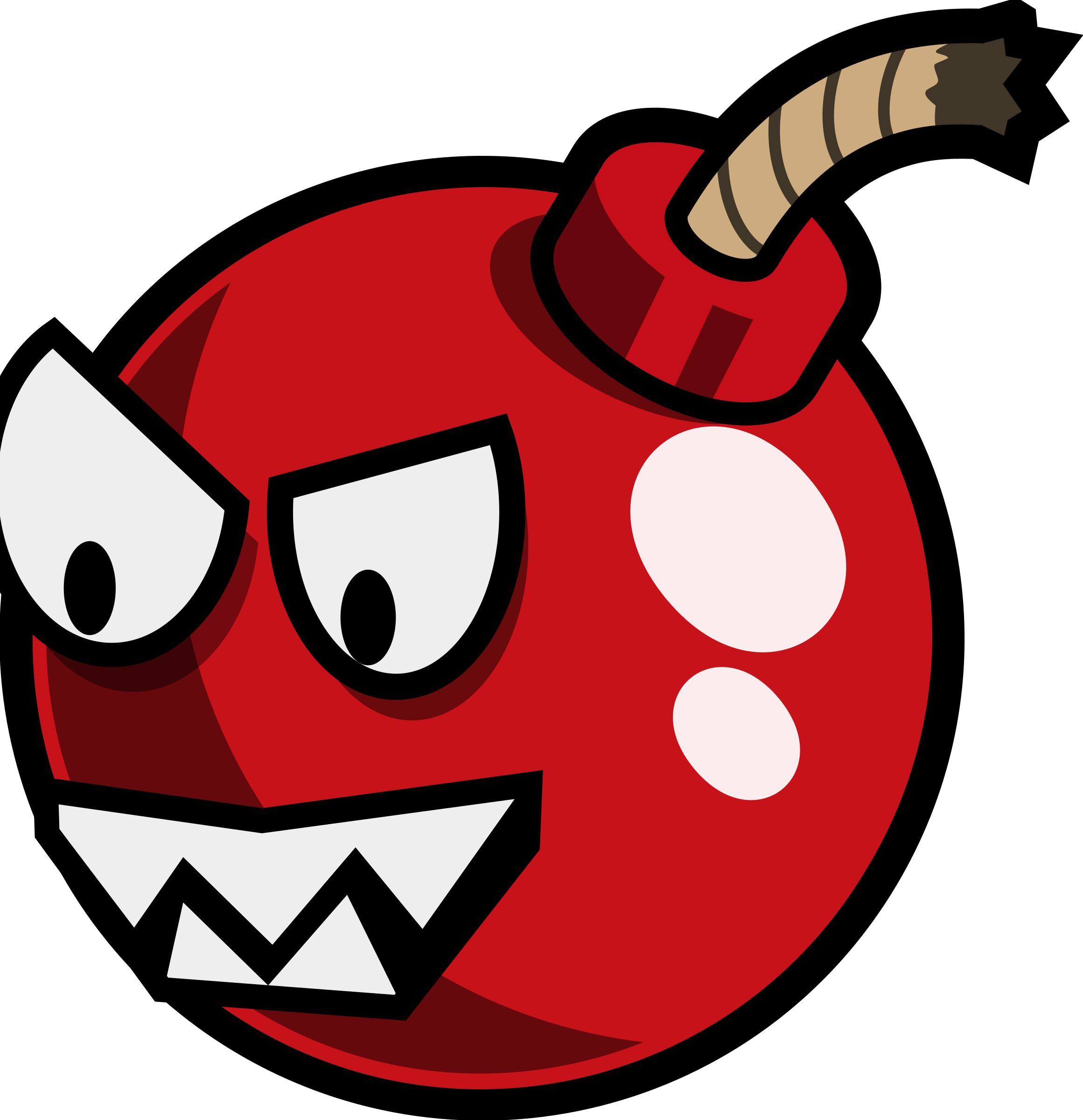 Cartoon cherry enemy remix. Bomb clipart simple