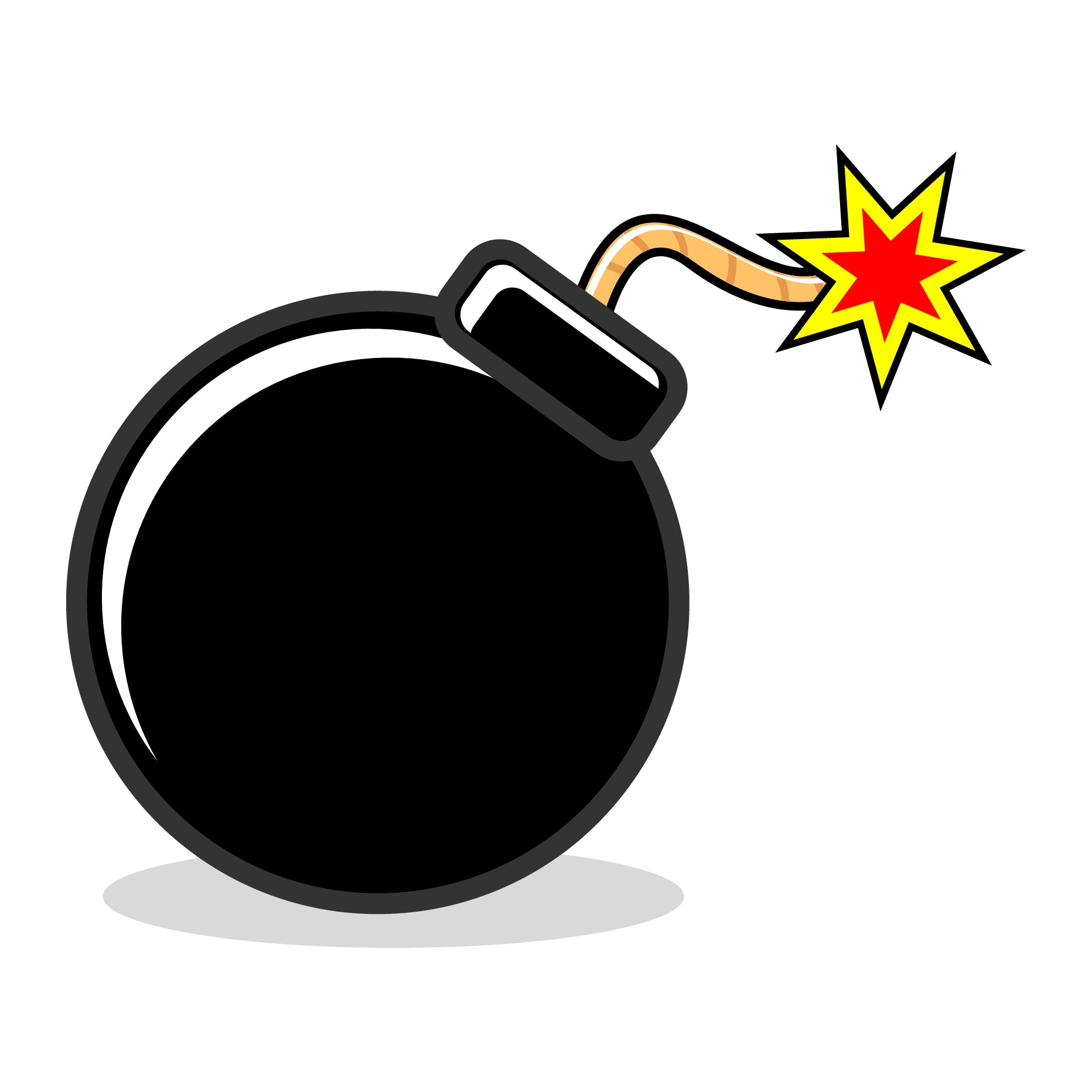 Fresh collection digital t. Bomb clipart simple