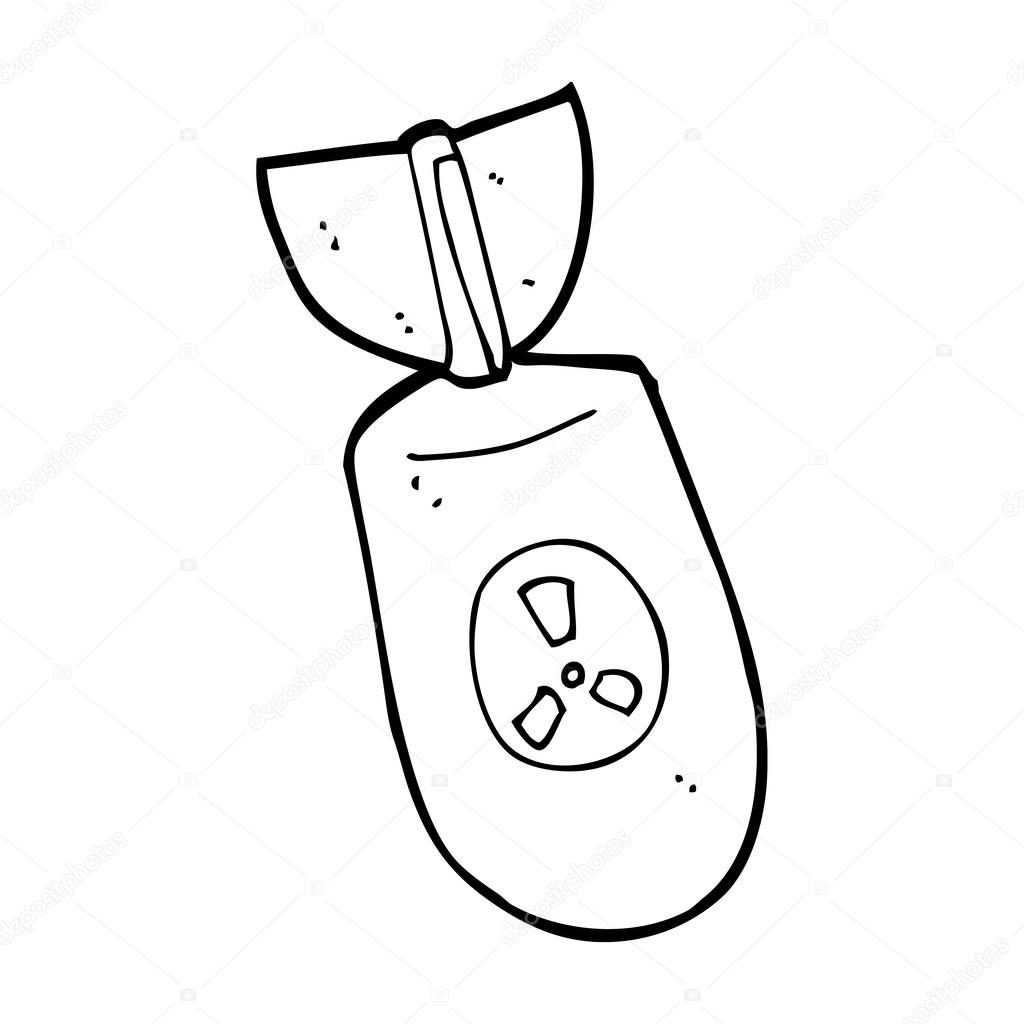 Bomb clipart sketch. Nuclear drawing free download