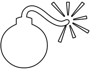 Bomb clipart sketch. Outline clip art at