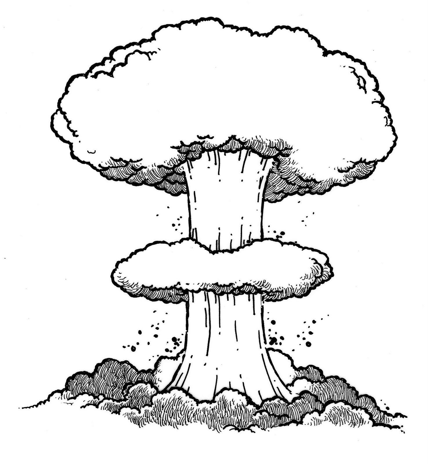 Nuclear drawing at getdrawings. Bomb clipart sketch