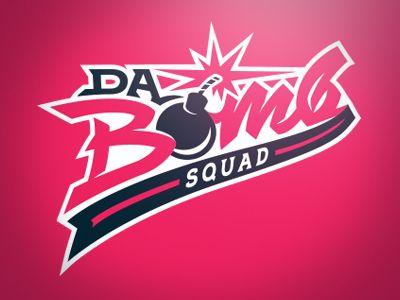 Bomb clipart softball. Da squad and sports