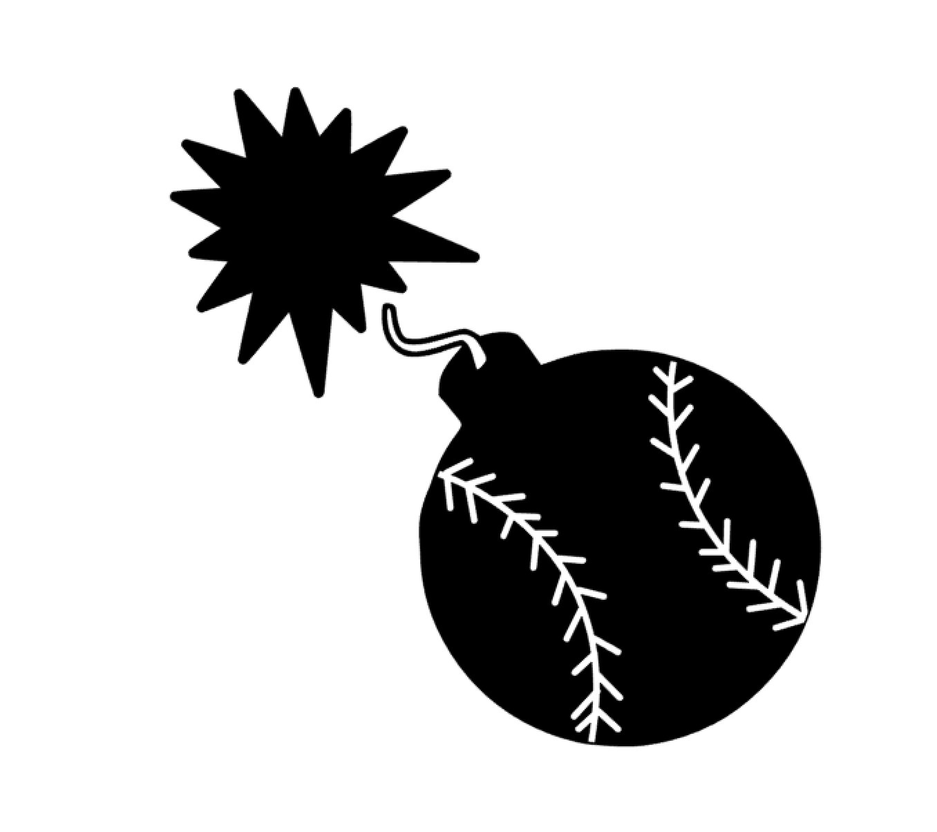 Svg from customdesigns on. Bomb clipart softball