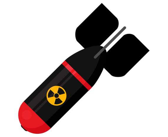 Bomb clipart vector art. Nuclear atomic silhouette svg